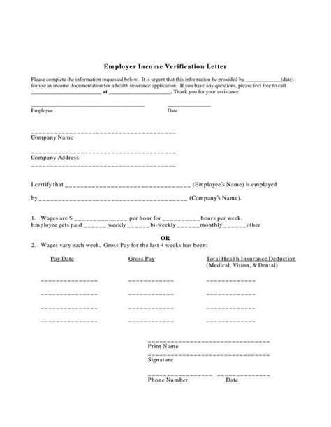 income verification letter proof of employment letter employer income verification 9607