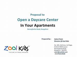 zool kids day care proposal With daycare business proposal letter