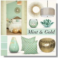 Mint & Gold  Home And Life  Gold Bedroom Decor, Mint