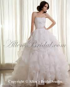 organza wedding dresses allens bridal organza sweetheart sweep gown wedding dress with beading and ruffle