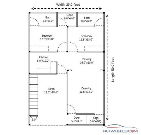 25by 50 plot size lay out plan building a low cost 25x50 house in islamabad suggestions required general lounge pakwheels