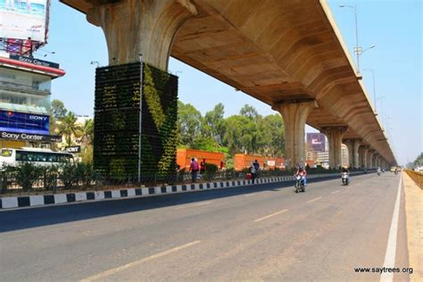 Vertical Garden In Bangalore by Bengaluru Gets Its 1st Vertical Garden To Curb Pollution