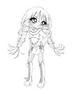 Cute Chibi Girl Coloring Pages