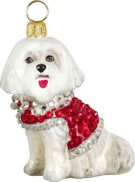 maltese ornaments christmas princess decor