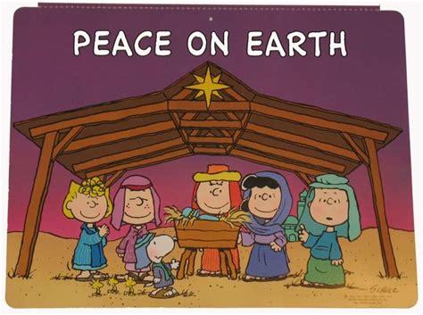 charlie brown gang outdoor peanuts nativity wall decor snoopn4pnuts nativity sets
