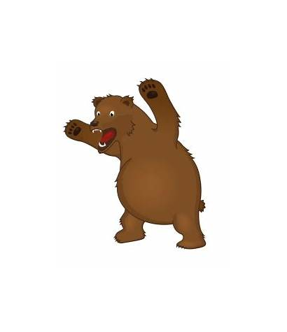 Bear Angry Clipart Cartoon Mean Illustration Brown