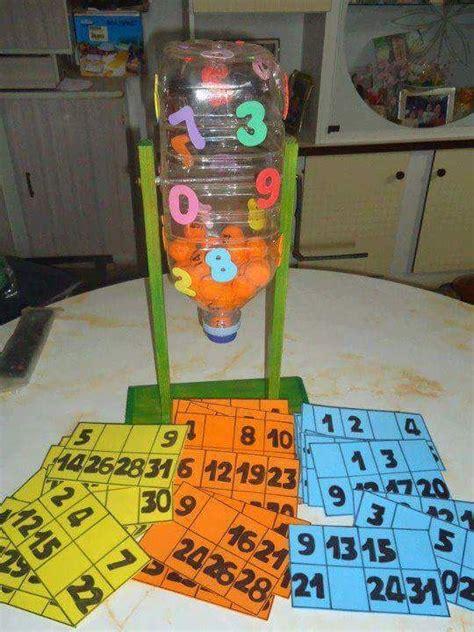 bingo casero con material reciclado reciclado juego