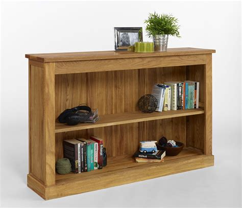 Contemporary Oak With Solid Polished Low Bookcase Added
