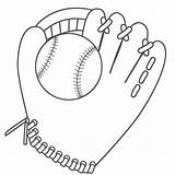 Baseball Coloring Glove Ball Printable Drawing Helmet Sports Cliparts Clipart Mitt Pages Cartoon Diamond Bat Print Gloves Library Clip Attribution sketch template