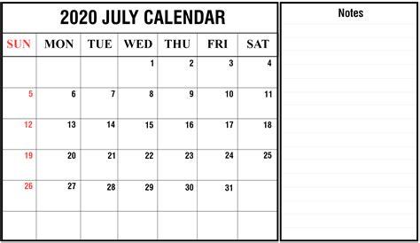 printable july calendar templates pdfwordexcel calendar top