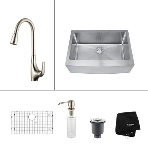 kitchen sink finishes kraus 30 inch farmhouse single bowl stainless steel 2707