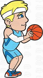 A Male Basketball Player Shooting A Free Throw Cartoon ...