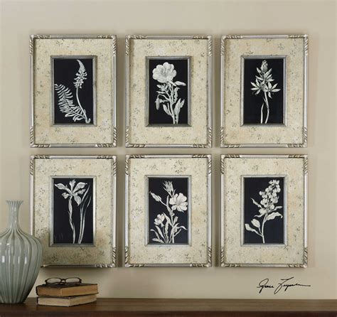 Uttermost Wall by Uttermost Glowing Florals Framed Wall 6 Set
