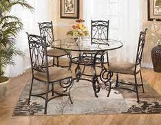 Dining Room Table Centerpiece Arrangemen Circular Laminated Glass Dining Table With Iron Legs