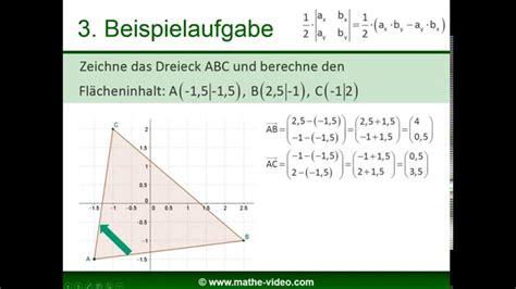 determinante flaecheninhalt vom parallelogramm dreieck
