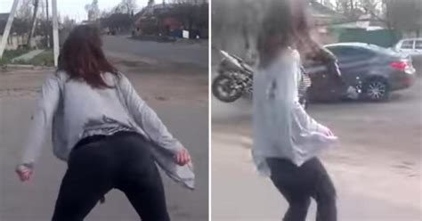 This Ukrainian Girl Twerking The Street Caused Major