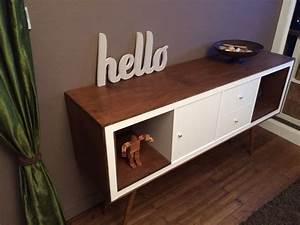 un meuble style annees 50 avec kallax bidouilles ikea With meuble kallax ikea