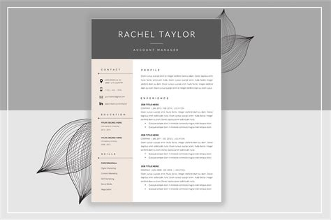 resume template cover letter resume templates