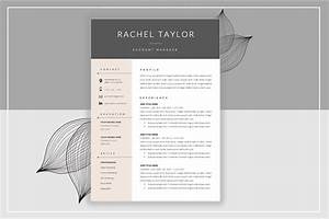 Resume template cover letter resume templates for Creative market resume templates