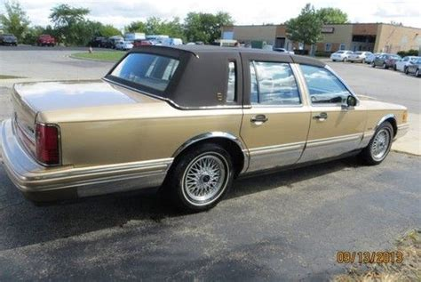 car engine manuals 1991 lincoln town car user handbook find used 1991 lincoln town car base sedan 4 door 4 6l in northbrook illinois united states