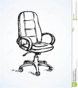 Vector Illustration  Office Chair Stock Vector