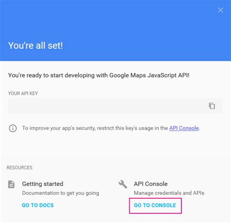 Console Api Key by New Maps Requirement How To Get Your Maps