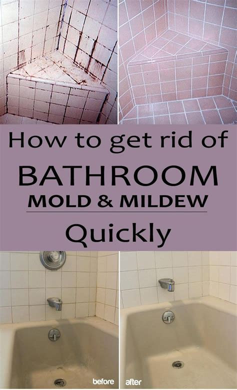 rid  bathroom mold  mildew quickly