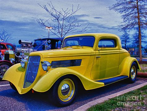 Classic Car Yellow Hot Rod Hdr Photograph By Pictures Hdr