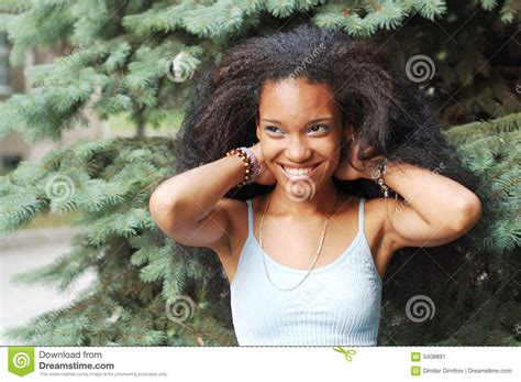 pretty black girl stock image image