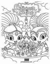 Shine Shimmer Coloring Pages Printables Print Cartoon Baby Printable Colouring Cartoons Theme Books Sheets Nick Jr Drawings Mandala Go Birthday sketch template