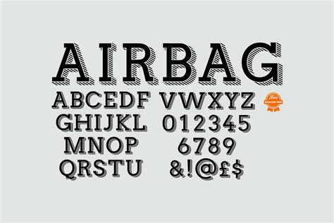 airbag a modern slab serif typeface with free download