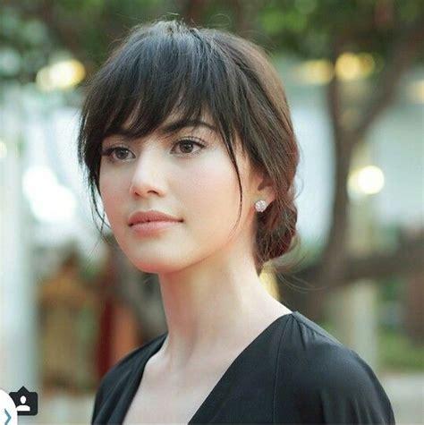 bangs hairstyle mai davika thai actress hair hair