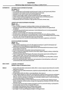 cloud support engineer resume samples velvet jobs With azure cloud resume