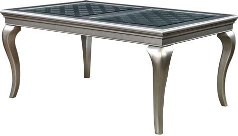 amina champagne  rectangular dining table