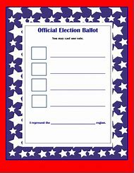 Voting Ballot Template Free