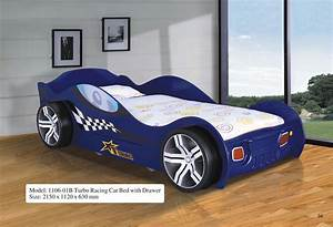Turbo Racing Car Bed W/Drawer