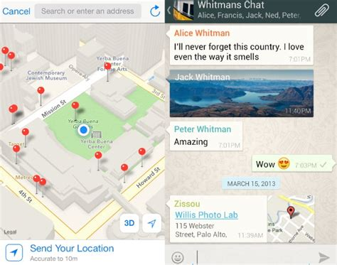 how to send location on iphone how to send location in whatsapp in android iphone