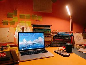 Simple, Macbook, Pro, 2017, Study, Desk, Setup, Macos