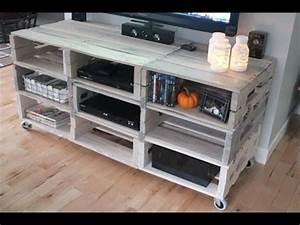 tv tisch aus europaletten tv tisch selber bauen youtube With tv tisch selber bauen