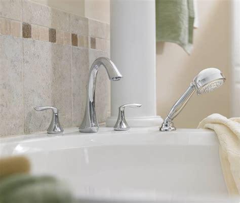 moen  eva  handle roman tub faucet trim  hand