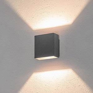 Außenbeleuchtung Haus Led : led wandleuchte 5w warmwei graphitgrau au enbereich ~ Lizthompson.info Haus und Dekorationen