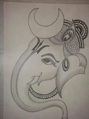 lord ganesh  images  drawing  black white