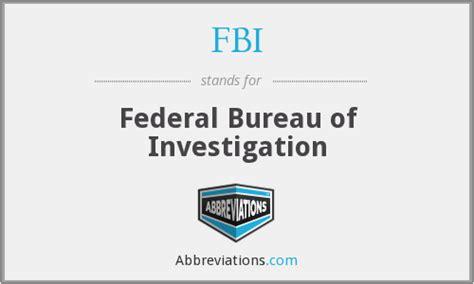 federal bureau of investigation fbi federal bureau of investigation