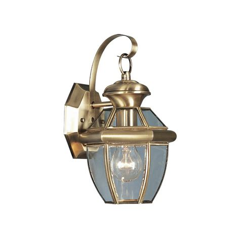 shop livex lighting monterey 12 5 in h antique brass
