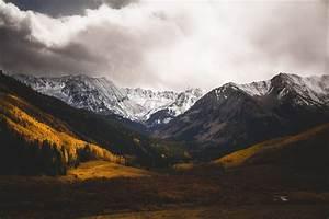 Mountains, Peaks, Fall, Aspen, Trees, Snowy, Mountains, Castle, Creek, Valley, Aspen, Tree, Decor