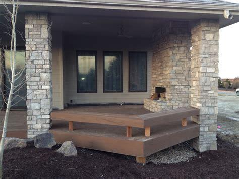 composite fireplace composite deck fireplace columns composite bench
