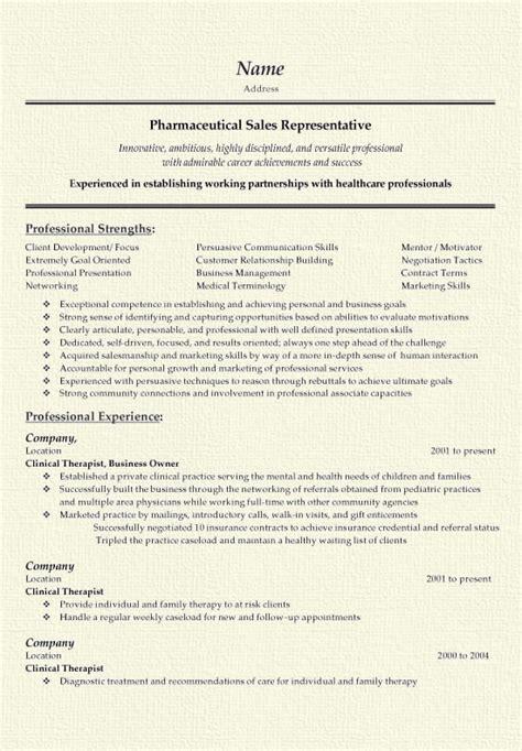 pharmaceutical sales resume exle