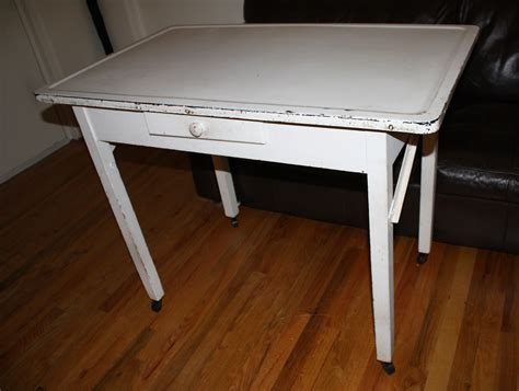antique metal top kitchen table antique farmhouse kitchen baker table with porcelain 7481