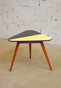 Table Basse Année 50 : table basse vintage formica jauen noir h tre tr pied ann es 50 tr pied marque stella ~ Teatrodelosmanantiales.com Idées de Décoration