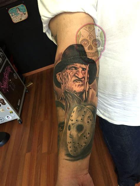 freddy krueger jason voorhees horror tattoo  works